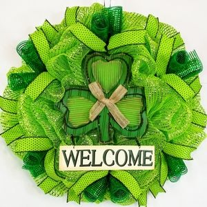 🍀Saint Patrick's Day Welcome Wreath🍀